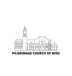 Germany steingaden pilgrimage church of wies vector