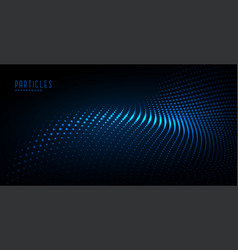 Glowing particle wave digital technology vector