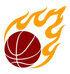 Graphic basketball vector