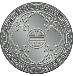 great britain silver coin vector image