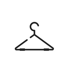 hanger icon wardrobe hander flat vector image