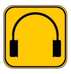 Headphones icon on white vector