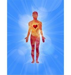 Human with faith feeling vector image