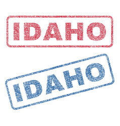 Idaho textile stamps vector