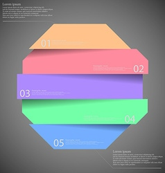 Infographic templete with motif of octagon divided vector image