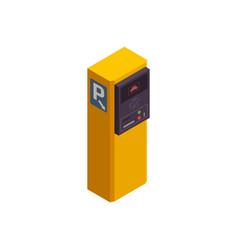 Isometric parking meter vector
