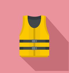 Kayak vest icon flat style vector