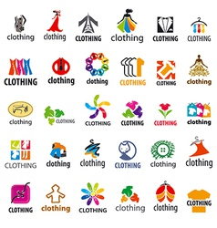 large set of logos clothing vector image