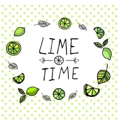 Lime time pattern vector image