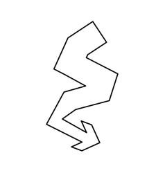logotype arrow curve vector image