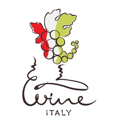 Logotype sign - wine from Italy vector