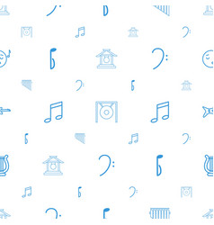 Melody icons pattern seamless white background vector
