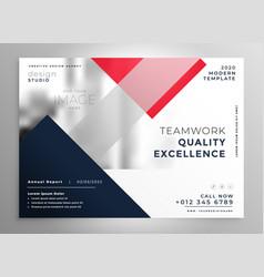 Modern business flyer brochure template design vector