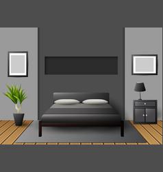 modern interior bedroom vector image