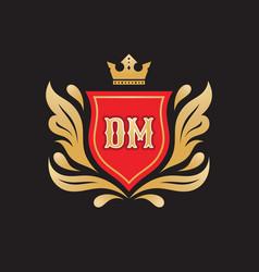 monogram d m initial letters - concept logo vector image