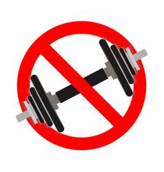 No exersice ban fitness icon vector