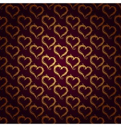 ornaments background red heart vector image