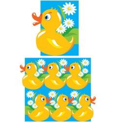 Pattern for children vector image