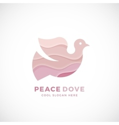peace dove abstract logo template sign vector image