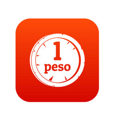 peso icon digital red vector image