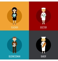 Profession set vector image