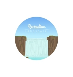 Recreation landscape circle icon vector image