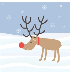 Rudolph Reindeer Christmas Holiday Cartoon vector image