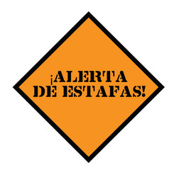 Scam alert stamp in spanish vector