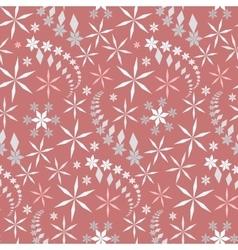 Seamless christmas pattern Crystal light gray vector image