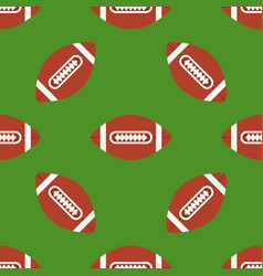 seamless pattern with soccer balls american vector image