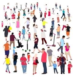 Set of People Children Adults Seniors vector