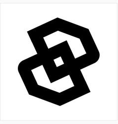 simple dd oo initials diamond shape logo vector image