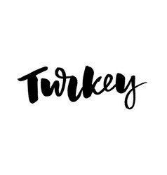 slogan turkey thanksgiving day vintage cards with vector image