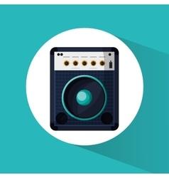 Speaker and music design vector