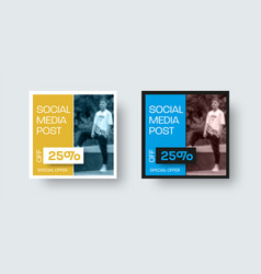 Square post template for social media discount vector