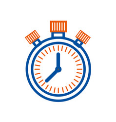 stopwatch time management control planning concept vector image
