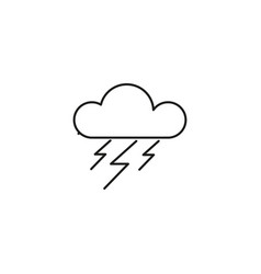 stormy cloud icon vector image