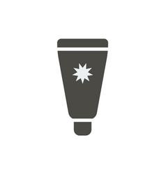 sunscreen icon sun cream symbol isolated vector image