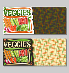 template for veggies vector image
