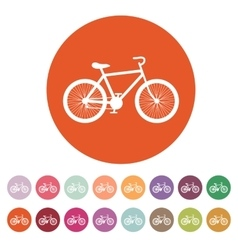 The bicycle icon Bike symbol Flat vector image