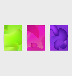 three abstract posters vector image