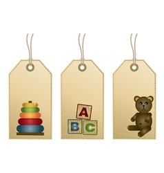 Toys tags vector