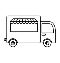 Truck delivery food icon vector