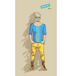 Ukrainian man in fashion vector