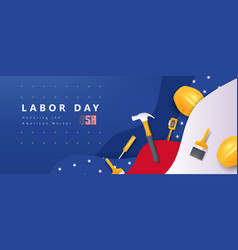 Usa happy labor day advertising banner vector
