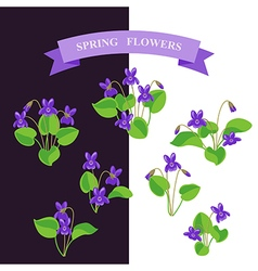 violet set vector image