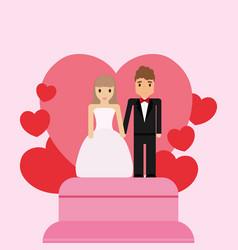 Wedding cake design vector