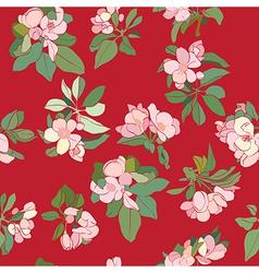 apple flowers deco pattern vector image
