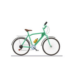 bicycle with drinking flask isolated on white vector image
