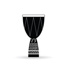bongo black and white vector image